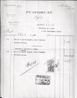 Puiforcat. Orfèvre à Paris 3°. à M. Marty à Paris. 1924. - 1900 – 1949