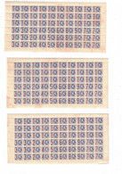 Lot De 5 Feuilles De Timbres De Rationnement Et De Ravitaillement Pendant La Guerre 1940-45 - Sin Clasificación