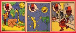 """-- LOT DE 3 IMAGES BANANIA """"Y'A BON """"   N° 1 - 9 Et 10 -- - Banania"""