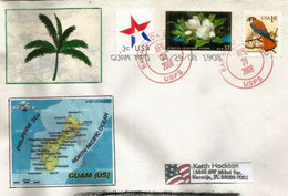 Letter From Barrigada, Guam ( Guam International Airport), Sent To USA (Florida), With MAP Of GUAM - Guam