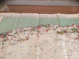 CARTE  COLONISATION DE LALGERIE 1930 - Landkarten