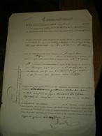 2 Pièces Concernant Noulin Plâtrier à Pantin 1847 - Non Classificati