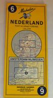 CARTE MICHELIN  -  NEDERLAND  -  AMSTERDAM - NIJMEGEN - Wegenkaarten