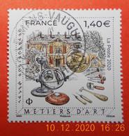 FRANCE 2020    METIERS D'ART    GRAVEUR SUR METAL    Timbre  Neuf   Cachet   ROND - Usati