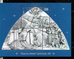 ARGENTINE,ARGENTINA 2020 RELIGION CHRISTMAS NAVIDAD NOEL NATAL WEIHNACHT BLOC S/SHEET  MNH - Unused Stamps