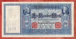 Banknote, Deutsches Reich, 100 Einhundert Mark, Berlin 1910, Gebraucht (1800) - 100 Mark