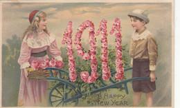 CPA   Gauffrée   BONNE ANNEE 1911 - Año Nuevo