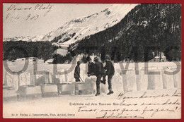 SWITZERLAND - GRAUBUNDEN - DAVOS - EISBLOCKE AUF DEM DAVOSER SEE - 1900 PC - GR Grisons