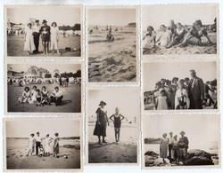 Photo 350, Royan 1935, Casino, Plage, Maillot De Bian, 8 Photos Amateurs, Format 8,8 X 6 Cm - Orte