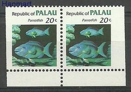 Palau 1983 MNH ( ZS7 PALpar14D ) - Vissen