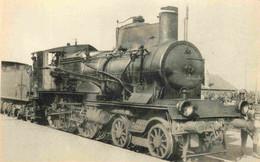 Thème Train Machine 220 A 11 (ex C 71) Locomotives Du Sud Est (ex PLM) CP Ed. H.M.P. N°575 Locomotive Vapeur - Treinen