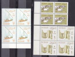 Stamps SUDAN 1990 1992 SC-420 427 428 MNH REGULAR DEFINITIVE  BLOCK OF 4 VERY RARE # 153 - Soedan (1954-...)