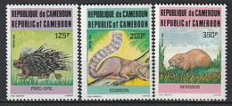 CAMEROUN - N°771/3 ** (1985) Animaux - Camerun (1960-...)