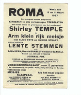 Borgerhout  ROMA  PAUVRE PETITE FILLE    SHIRLEY TEMPLE  1937 - Antwerpen