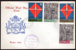 Guyana - 1974 - FDC - Easter 1974 - Guyana (1966-...)