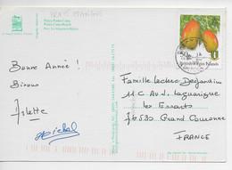 ILES VIERGES BRITANIQUES / 1 Timbre MANGUE  Sur CPM De La Republique Dominicaine Voy. 01/2005. - British Virgin Islands