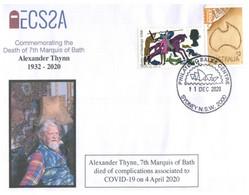 (AA2) Australia - Death Of 7th Marquis Of Bath (UK Royalty) (from COVID-19 Complications) - Malattie