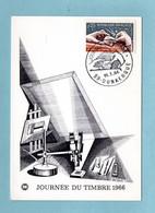 Carte Maximum 1966 - Journée Du Timbre 1966 : Gravure Du Poinçon YT 1477 - 59 Dunkerque - 1960-69