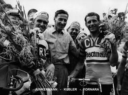 PHOTO RENFORCÉE, HAUTE CALITÉ, JUNKERMANN-KUBLER-FORNARA 1958 FORMAT 15 X 20 - Radsport