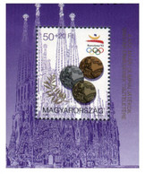 (Stamps 13-12-2020) Mini-Sheet - Feuillet Miniature - Hungary - Barcelona Olympic Games - Zomer 1992: Barcelona