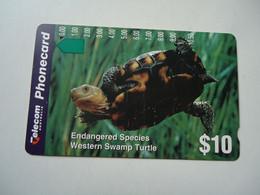 AUSTRALIA  USED CARDS  ANIMALS TURTLES - Tartarughe