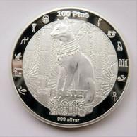 Environ 28.35 G 999 Silver Plated Bastet Chat Coin 2016 REPUBLICA ARABE - Saudi Arabia