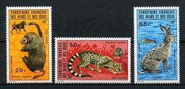 AFARS ISSAS 1973 PA 94/96 ** Neufs MNH Superbes C 18 € Faune Lièvre Babouin Animaux Animals - Nuovi