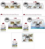 Tajikistan 2020 Predators From The Red Book Of Tajikistan Full Perforated Set FDC Of Stamps And Block's - Tajikistan