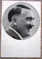 DR Hitler Postkarte Männer Der Zeit MIF DR + B6M Gestempelt + Roter SST - Cartas