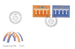FINLANDE - EUROPA 908/909 - Cad Helsinki 7 5 1984 - 1er Jour - - Briefe U. Dokumente