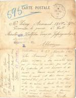 GUERRE 14-18 VILLEDOMER 23-11-17 CP =>LEROY Armand 135e INF. Prisonnier De Guerre 4E Batl. MÜNSTER In WESTFALEN CAMP III - Guerra De 1914-18