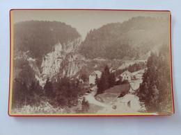 Le Col Des Roches Côté France Doubs Frontière Franco Suisse Photo Ancienne Environ 1900 - Plaatsen