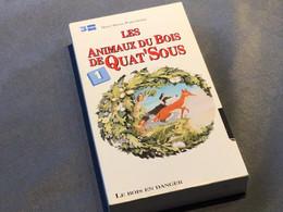 Les Animaux Du Bois De Quat'Sous Lot De 13 Cassettes VHS Introuvable Dans La Plupart Des Commerces Carton Et VHS De 1992 - Dibujos Animados