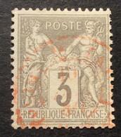 87 - 3 Sage 3 C Gris Rouge Des Imprimés Paris - 1877-1920: Semi Modern Period