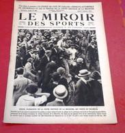 Miroir Des Sports N°66 Octobre 1921 Coupe Deutdsh Meurthe Sadi Lecointe, Course De Côte De Gaillon, Autodrome Grunewald - Sport