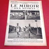 Miroir Des Sports N°63 Septembre 1921Grand Prix Auto Brescia Jules Goux, Sadi Lecointe, Etienne Poulet En Indochine - Deportes
