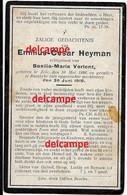 Oorlog Guerre Emiel Heyman Zele Gesneuveld Bombardement D'une Usine De Munitions Bousbecque Wervik Sud FR 26 Juni 1918 - Devotieprenten