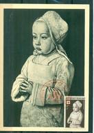 """CM-Carte Maximum Card # 1951-France # (Yv.N° 914) Croix # Art# Peinture,painting By  Maitre De Moulins """"dauphin Charles"""" - 1950-59"""