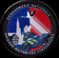 Patch Gendarmerie BMo Brigade Motorisée STRASBOURG - Policia