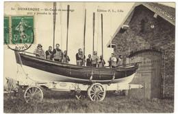 80 - DUNKERQUE - Un Canot De Sauvetage Prêt à Prendre La Mer - Dunkerque