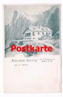095 Kölner Hütte Rifugio Fronza Alle Coronelle Alpenverein Künstlerkarte Rarität - Ohne Zuordnung