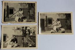 3 Photographie Originale Homme Et Femme Sur Un Vespa Scooter Moto Juvigny Sous Andaine ? - Other