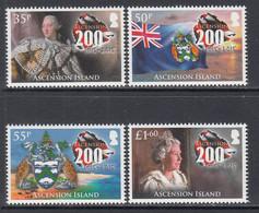 2015 Ascension British Settlement Coat Of Arms Flags Turtles Complete Set Of 4 MNH - Ascension (Ile De L')