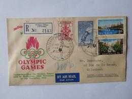 Enveloppe Olympic Games Melbourne 1956 Oblitérations Village + R 2143 Olympic Village Victoria - Briefe U. Dokumente
