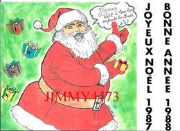 CPM - JOYEUX NOËL A TOUS LES ENFANTS DU MONDE SIZI - Tirage Limité N° 103 - Edit. Des Escargophiles - Scans Recto-Verso - Santa Claus