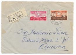 RACCOMANDATA DA ROMA AD ANCONA - 8.6.1956. - 1946-60: Marcophilia