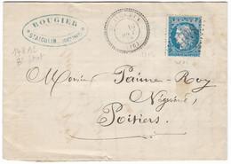 TIMBRES N° 60/1;  LETTRE ; Cachet Perlé ; GC 3481 ; GRANDE CASSURE ;148 A2   / 8 ème état TB - 1871-1875 Cérès