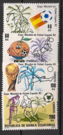 Guinée  équatoriale - 1982 - N°Mi. 1630 à 1633 - Football World Cup 82 - Neuf Luxe ** / MNH / Postfrisch - Equatorial Guinea