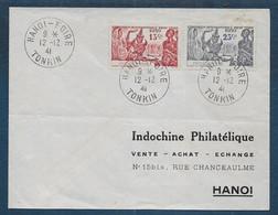 Indochine  -  Enveloppe  De HANOI FOIRE - Brieven En Documenten