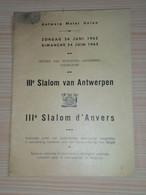 3Eme Slalom D'Anvers ( Course Automobile, Règlement). Bilingue Nl/Fr. - Programs
